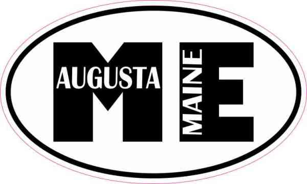 Oval ME Augusta Maine Sticker