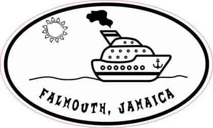 Cruise Ship Oval Falmouth Sticker