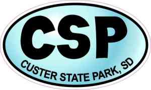 Blue Oval CSP Custer State Park Sticker