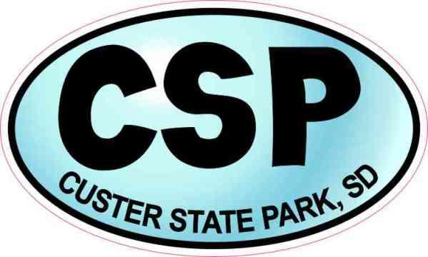 Blue Oval CSP Custer State Park Sticker
