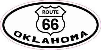 Oval Route 66 Oklahoma Sticker