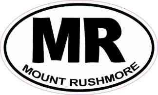 Oval MR Mount Rushmore Sticker