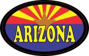 Flag Oval Arizona Sticker