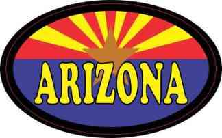 Flag Oval Arizona Sticker