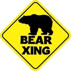Bear Crossing Magnet