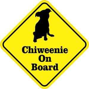 Chiweenie On Board Sticker