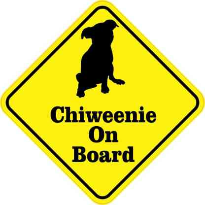 Chiweenie On Board Magnet