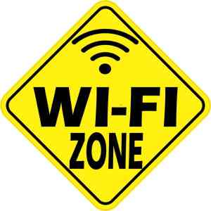 Wi-Fi Zone Sticker
