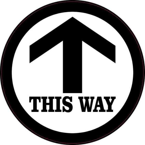 This Way Sticker