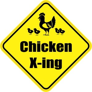 Chicken Crossing Magnet