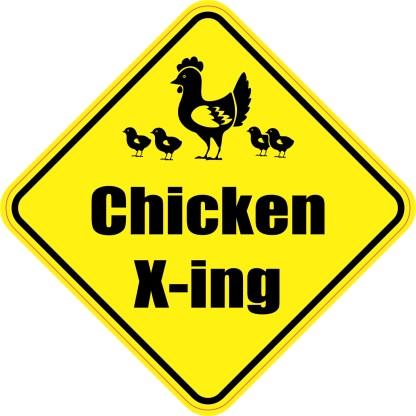 Chicken Crossing Magnet