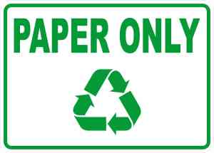 Paper Only Sticker