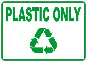 Plastic Only Sticker