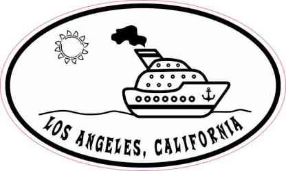 Cruise Ship Oval Los Angeles Sticker