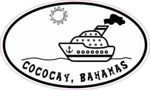 Cruise Ship Oval Cococay Sticker