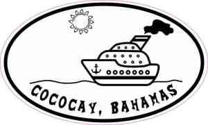 Cruise Ship Oval Cococay Sticker