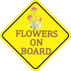 Flowers On Board Sticker