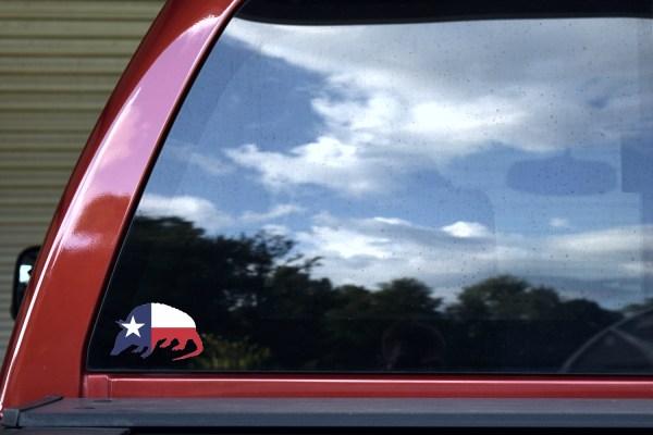 Texas Flag Armadillo Sticker