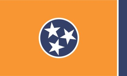Orange Tennessee Flag Magnet