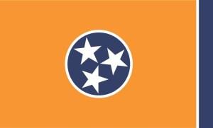 Orange Tennessee Flag Sticker
