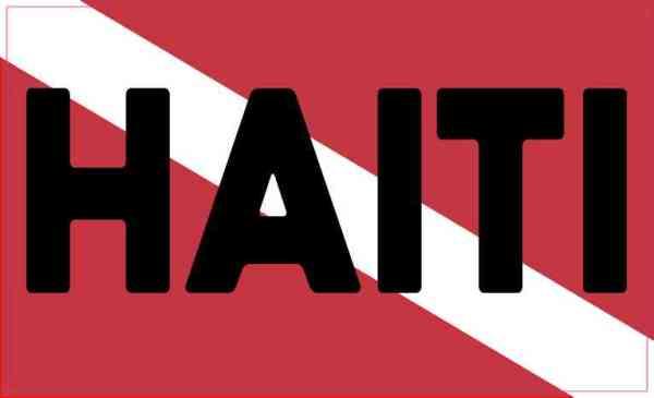 Haiti Dive Flag Sticker