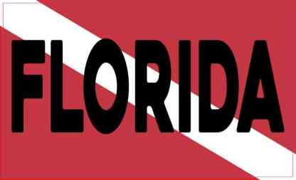 Florida Dive Flag Magnet