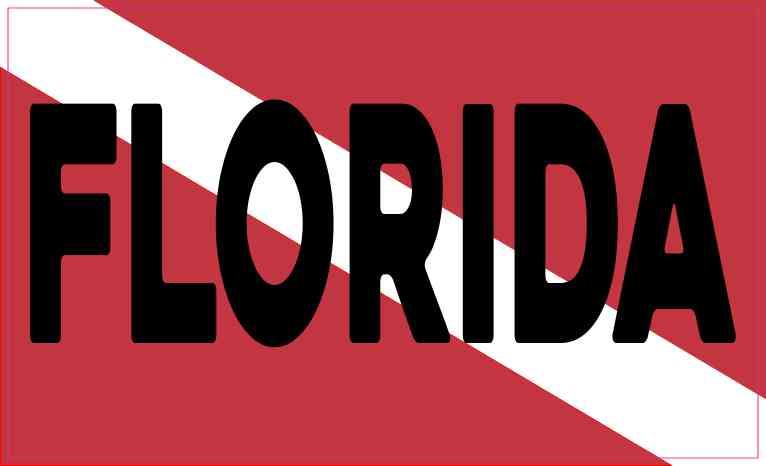 Florida Dive Flag Magnet