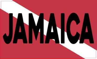 Jamaica Dive Flag Magnet