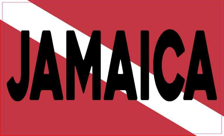 Jamaica Dive Flag Sticker