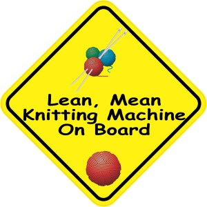 Lean Mean Knitting Machine On Board Magnet