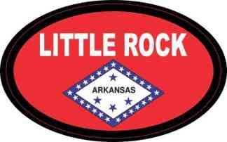 Oval Arkansas Flag Little Rock Sticker