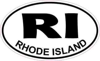 Oval Rhode Island Sticker