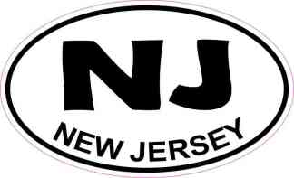 Oval New Jersey Sticker
