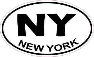 Oval New York Sticker