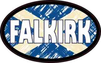 Oval Scottish Flag Falkirk Sticker