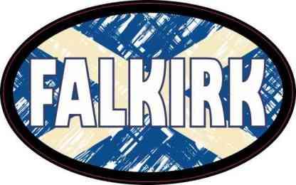 Oval Scottish Flag Falkirk Sticker