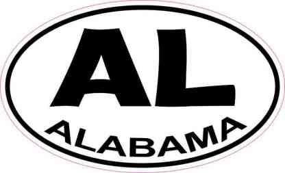 Oval Alabama Sticker