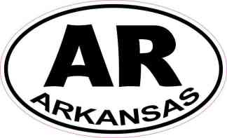 Oval Arkansas Sticker
