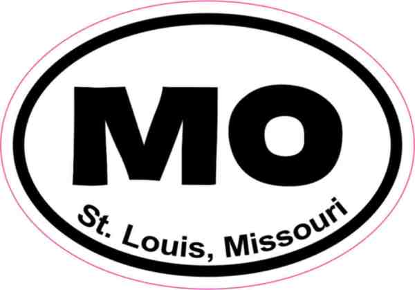 Oval St. Louis Sticker