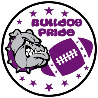 Purple Bulldog Pride Sticker