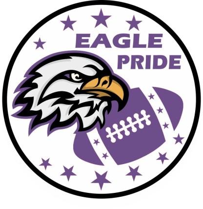 Purple Eagle Pride Sticker