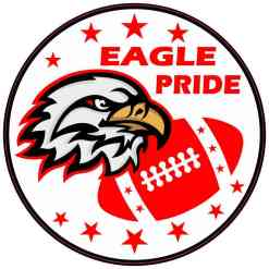 Red Eagle Pride Sticker