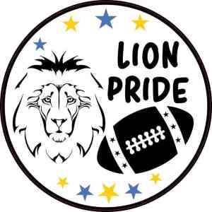 Blue and Gold Lion Pride Sticker