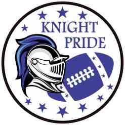 Blue Football Knight Pride Sticker