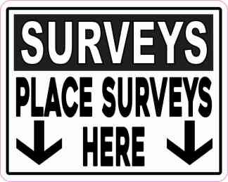 Place Surveys Here Magnet