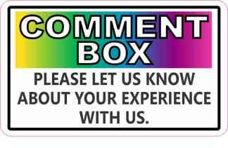 Colorful Comment Box Sticker