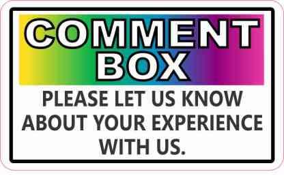 Colorful Comment Box Sticker