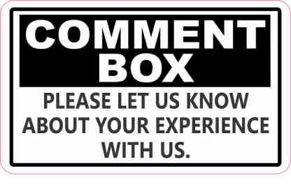 Comment Box Sticker