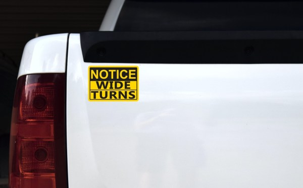 Notice Wide Turns Magnet