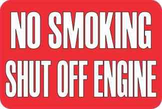 No Smoking Shut Off Engine Sticker